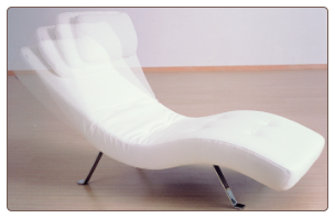 J & M Relax Lounger Sleep Chair Euro Design in White or Black LR01 (176018)