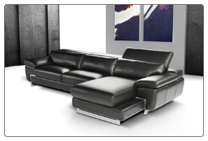 OREGON 1 -   ITALIAN LEATHER SECTIONAL BY J&M FURNITURE USA