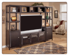 Naomi- 4 PCS  Entertainment Wall Unit Signature Design by Ashley Furniture