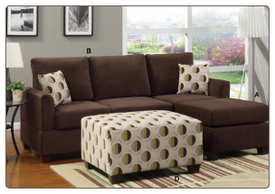 POUNDEX 3 PCS SECTIONAL F7401