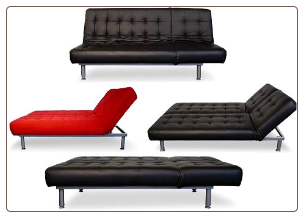 Trio Leather Sofa Bed