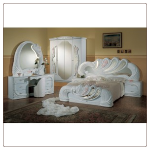 Vanity White - Italian Classic 5PC Bedroom Set