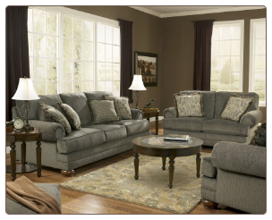 PARCAL ESTATES Contemporary  Living Room Sofa  Set with Accent Pillows by Signature  Ashley