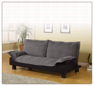 Casual Convertible Sofa Bed in Gray - Coaster Co.