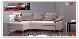 ESF - 6082 Modern Sectional Sleeper in Full Fabric by European Style Furniture