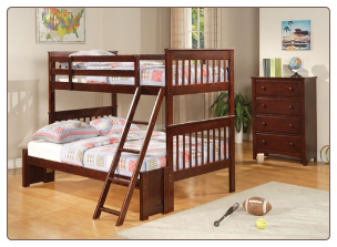 Parker Twin Over Full Slat Bunk Bed by Coaster