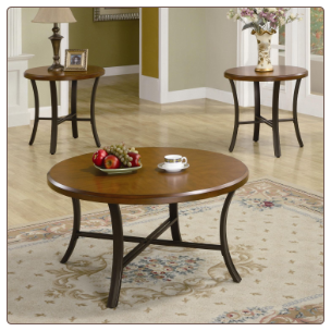 3 Piece Occasional Table Sets Round Coffee Table and End Table Set by Coaster