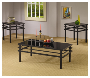 3 Piece Occasional Table Sets Modern Coffee Table and End Table Set by Coaster