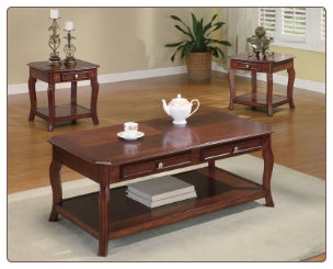 Cherry Brown Occasional Table Set - Coaster 701508