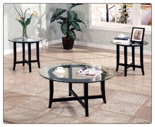 Contemporary 3 Piece Round Occasional Table Set