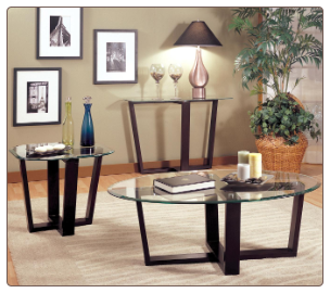 3 Piece Glass Coffee Table & End Tables - Coaster 700275