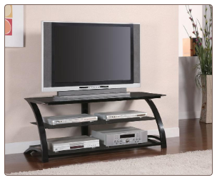 "Astra 48"" TV Stand in Black Finish - Coaster"