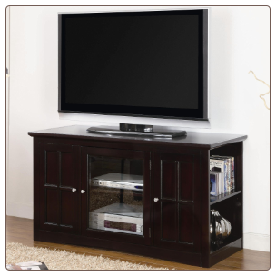 Fullerton Transitional Media Console with Glass Door by Coaster