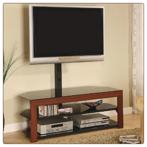 TV Stands Casual Contemporary Media Console with Bracket by Coaster