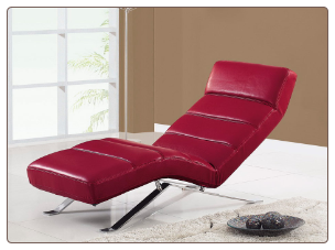 F05 Relax Chaise - Red - Global Furniture