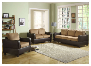 Homelegance Anthony Two-Tone  Living Room Set by Homelegance.