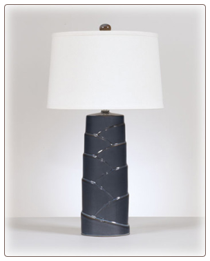 Signature Design by Ashley - Table Lamp in Multi Gray (Set of 2)