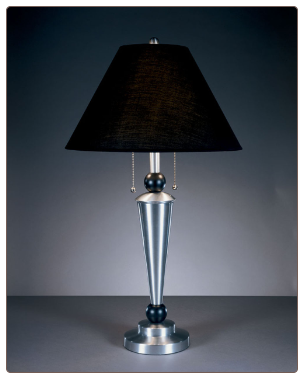 Famous Brand Lamps | Cynthia Set of 2 Table Lamps Nickel and Brass L409294by Signature Design by Ashley
