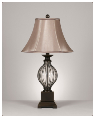 Famous Brand Lamps | Donna Set of 2 Table Lamps L481654 by Signature Design by Ashley