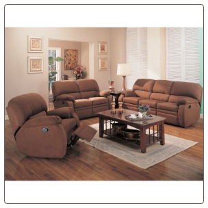 Michelle 2 Piece Motion Sofa Set in Chocolate Microfiber by Coaster - 600411S