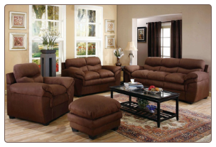 The Piper Living Room Collection 502081N by Coaster Deep Chocolate Finish, Microfiber
