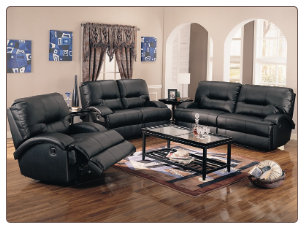 Lowell Black Reclining Living Room Collection - 600511 - Coaster Furniture