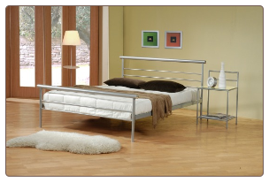 Coaster 300181 Contempoarary Metal Silver Queen Bed