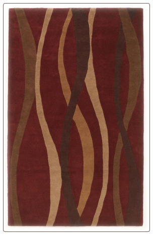 Contemporary Area Rugs Soundwave - Red Area Rug by Signature Design by Ashley
