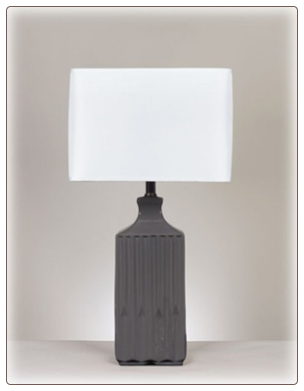 Lamps - Contemporary Quilla Ceramic Table Lamp by Signature Design by Ashley