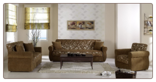 Melody 2 Pcs Living Room Set in Yasemin Green (Sofa and Loveseat) - Sunset Furniture-Istikbal