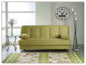 Vegas Rainbow Green Convertible Sofa Bed - Sunset Furniture-Istikbal