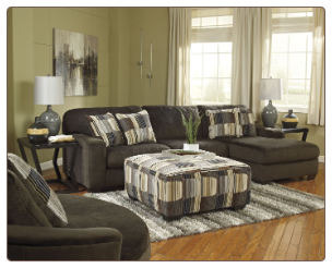 Westen Chocolate Sectional Set