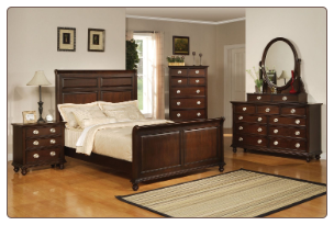 Mila Bedroom Set in Rich Cappuccino Finish by Coaster - 201571