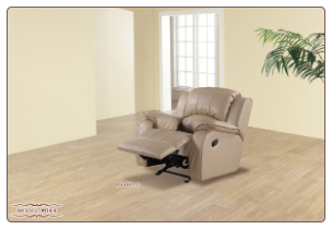 Black Recliner in High Quality Leather Match, from Empire Furniture Design