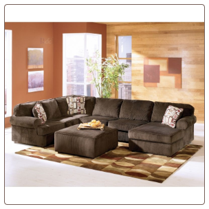 Vista - Chocolate Sectional Set by Signature Design