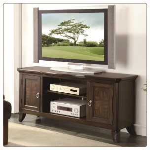 TV Console with Parquet Veneers