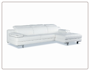 9097 Italian Leather Sectional by J&M Furniture