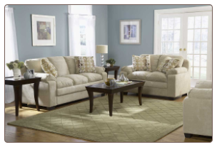 Microfiber Upholstery Living Room Set in Transitional Style, 'Scarlet' Collection by Homelegance.