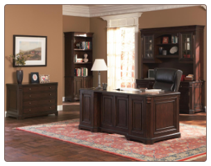 Cherry Valley Traditional Double Pedestal Computer Desk by Coaster
