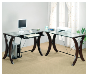 Division L-Shape Computer Desk Unit by Coaster