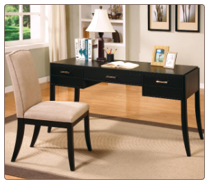 Jamesburg Contemporary Table Desk and Chair Set by Coaster