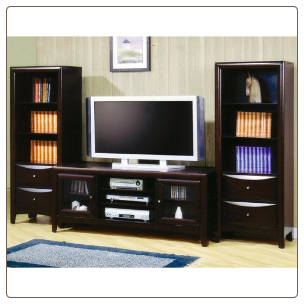 Madison - Coaster TV Stand and Media Tower Wall Unit by Coaster