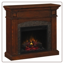 Mahogany Dual Mantel Electric Fireplace with Corner Option