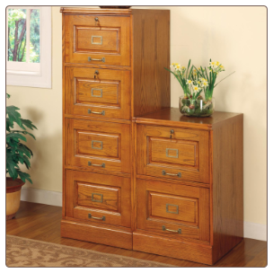 Palmetto Oak File Cabinet with 4 Drawers by Coaster