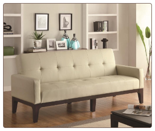 Coaster Furniture 300226 Sofa Beds Tufted Sofa Bed with Track Arms