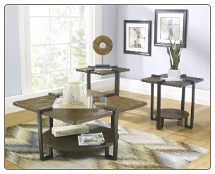 ASHLEY ALLORDINE COFFEE TABLE SET