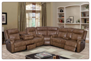 U7303C-WALNUT-SECTIONAL