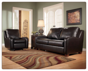 Meagan - Chocolate Leaving Room Set Signature Design by Ashley Furniture