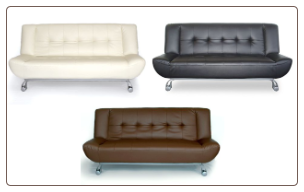 Tribeca Leatherette Sofa Bed - 3 Different Colors