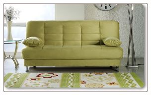 Green Micro Fiber Sofa Bed